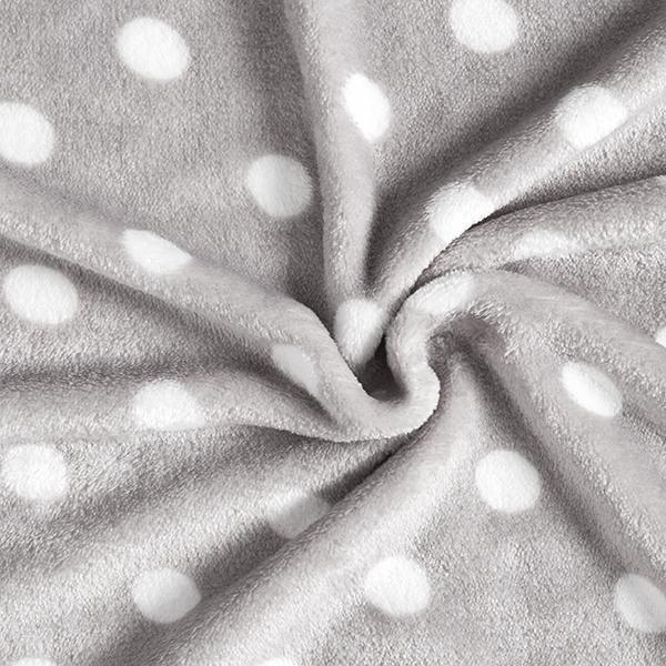 Polaire douillet points 2 cm – gris clair
