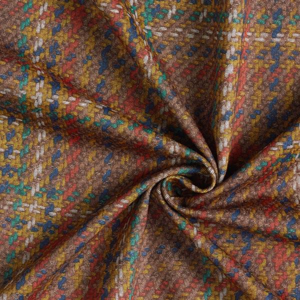 Jersey romanite Aspect tricot – rouge-orange