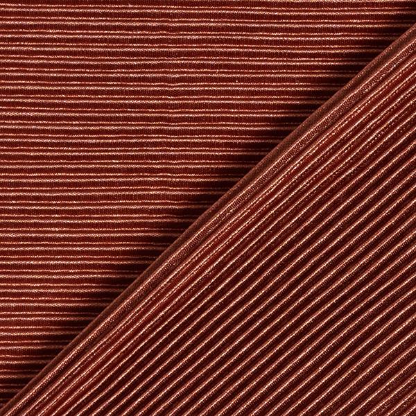 Jersey plissé Brillance noble – caramel