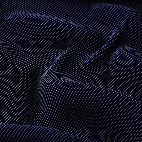 Jersey plissé Brillance noble – navy
