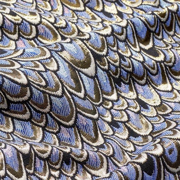 Brocart plumes de paon – lilas/or