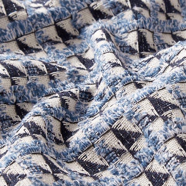 Bouclé Triangle – écru/bleu