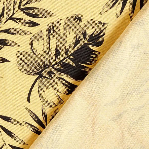 Chambray Tropische Blätter – jaune