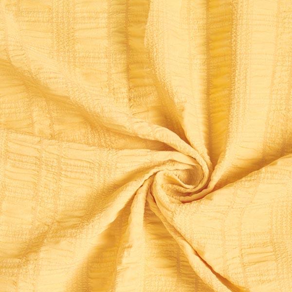 Tissu en polyester seersucker stretch – jaune