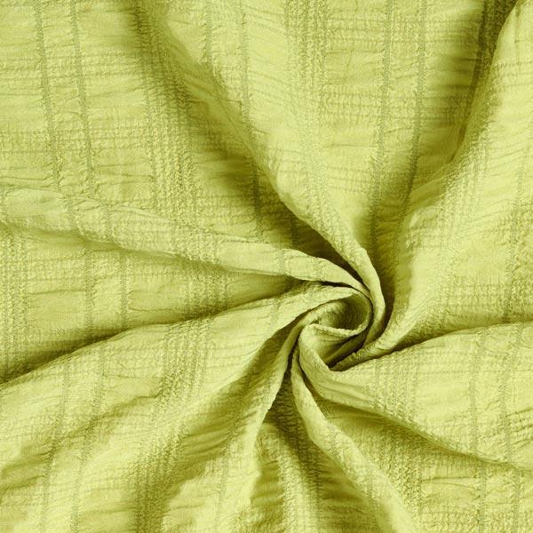Tissu en polyester seersucker stretch – vert pomme