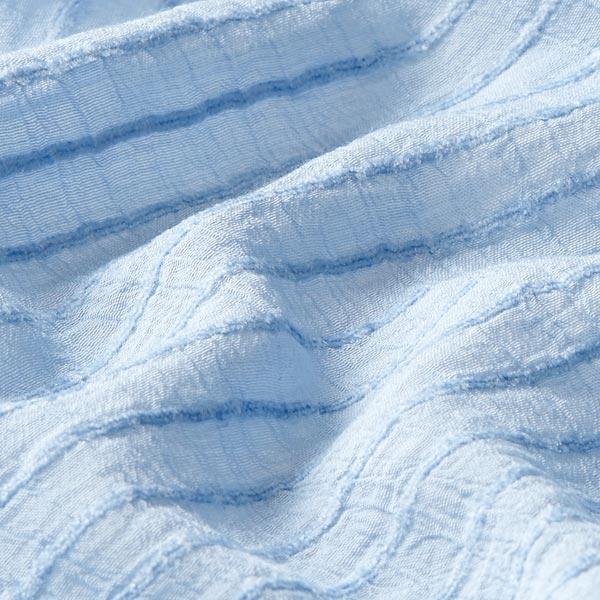 Tissu pour chemisier rayures horizontales stretch – bleu clair