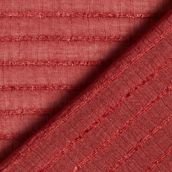 Tissu pour chemisier rayures horizontales stretch – rouge bordeaux