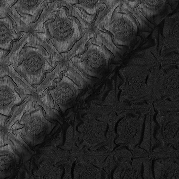 Chiffon Ornements gaufrés – noir