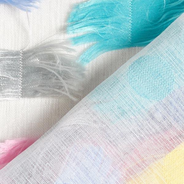 Tissu en polyester oiseau de paradis – gris clair