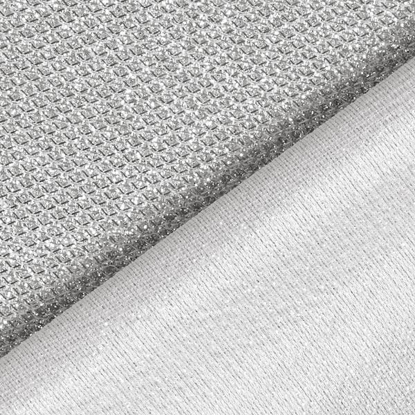 Tissu scintillant lurex metallic – argent