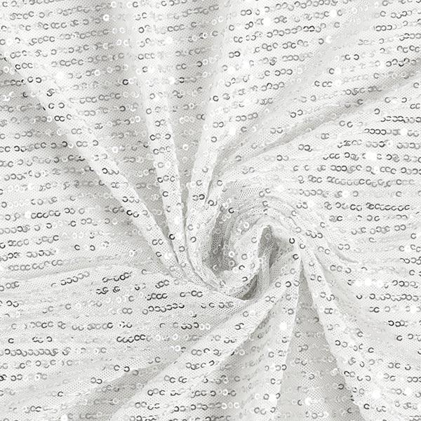 Softmesh Paillettes Cascade – blanc