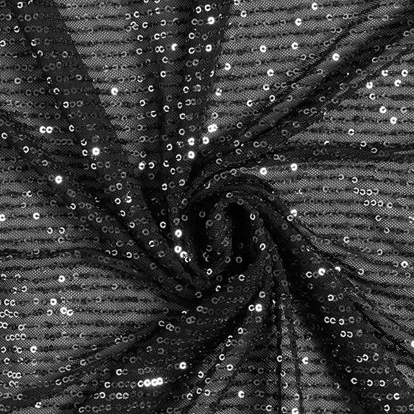 Softmesh Paillettes Cascade – noir