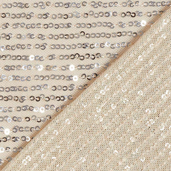 Softmesh Paillettes Cascade – champagne