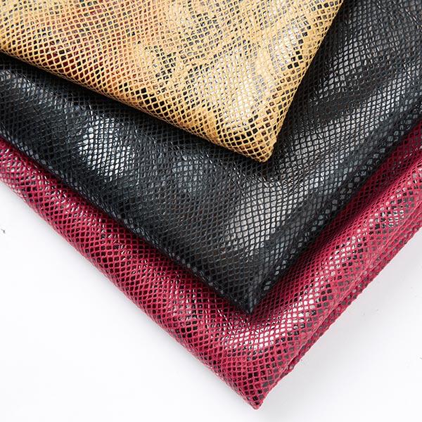 Jersey feuille Serpent – rouge bordeaux