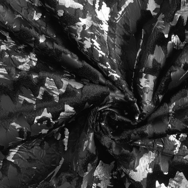 Velours jersey Pied-de-poule Aspect dévoré – noir