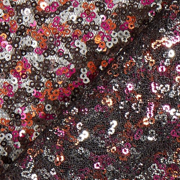Softmesh Paillettes Mélange de couleurs – rose vif