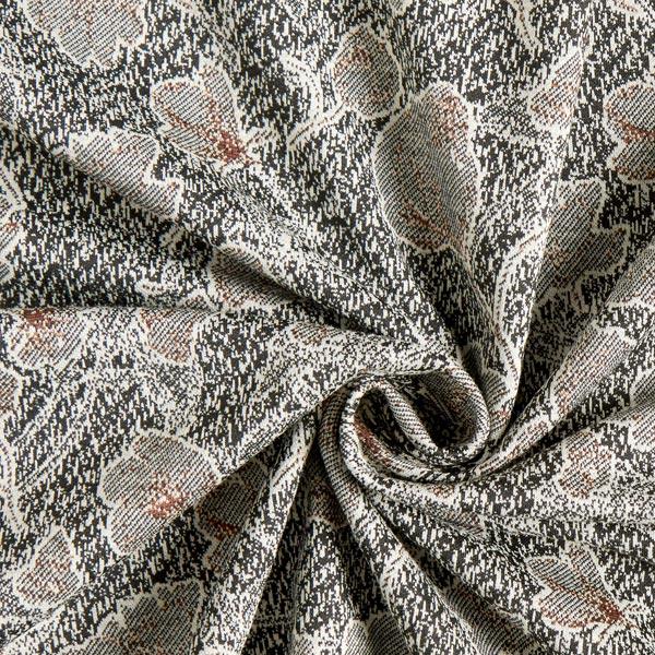 Jersey jacquard Fleurs – noir/blanc