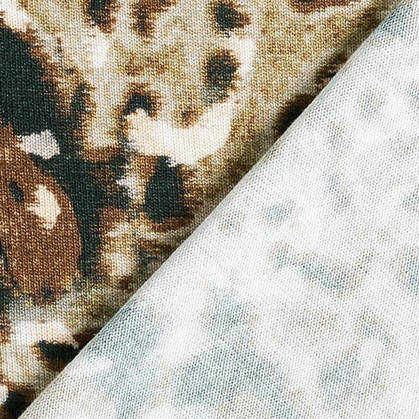 Viskosejersey Tupfen digital – beige