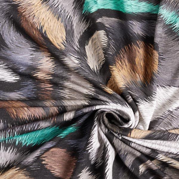 Viskosejersey Animal digital – grasgrün