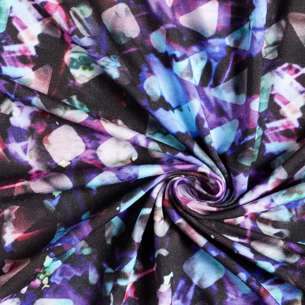 Jersey viscose Triangles numérique – lilas