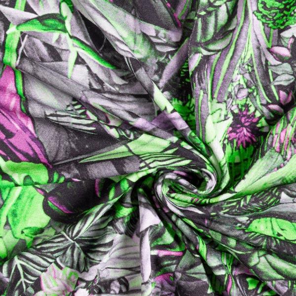 Jersey viscose Forêt vierge numérique – vert