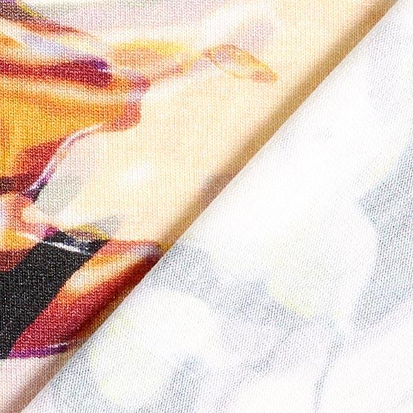 Viskosejersey Abstrakt digital – hellgelb