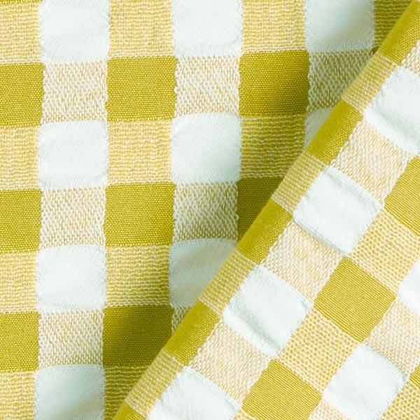 Tissu Carreaux Aspect Seersucker – pistache