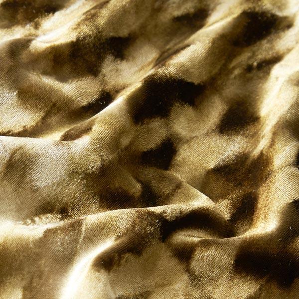 Panne de velours Tourbillons abstraits – kaki