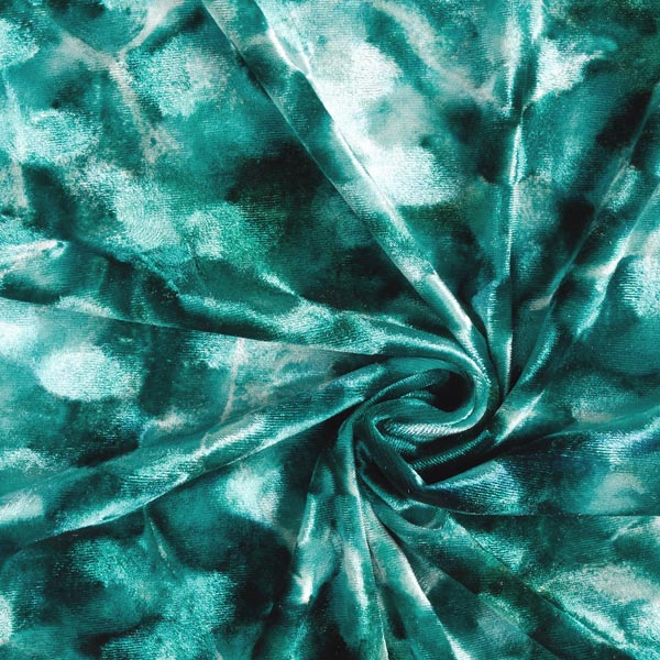 Panne de velours Tourbillons abstraits – vert