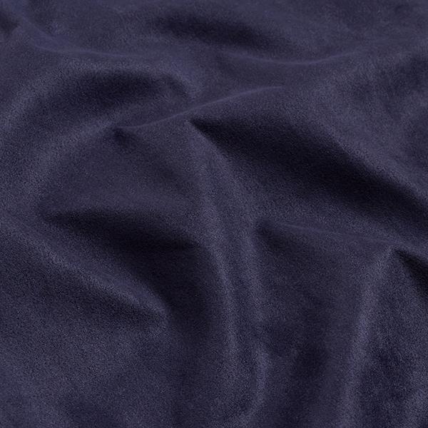 Tissu suédine Scuba aspect daim – bleu marine