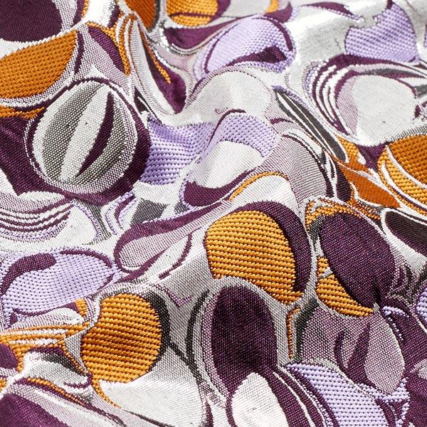 Jacquard scintillant fruits abstraits – prune/argent