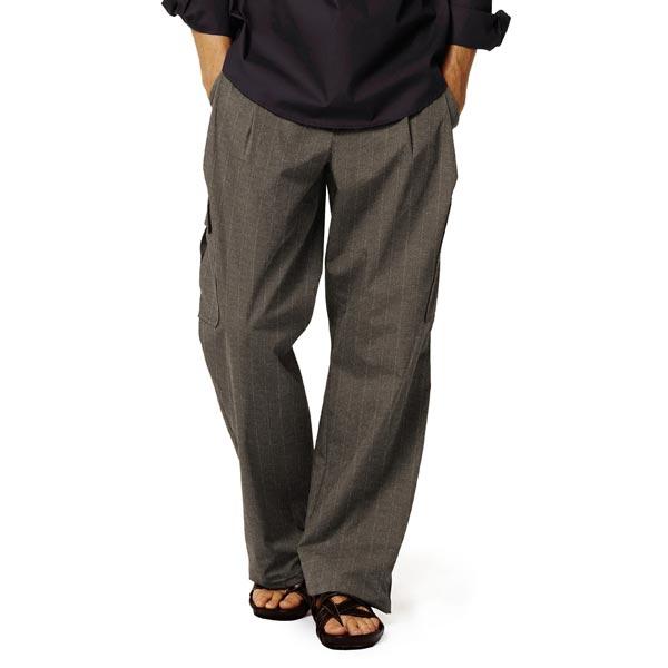 Tissu de costume Stretch Chevrons Lurex Rayures – marron