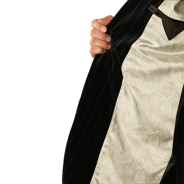 Jacquard tissu de doublure cachemire changeant – écru