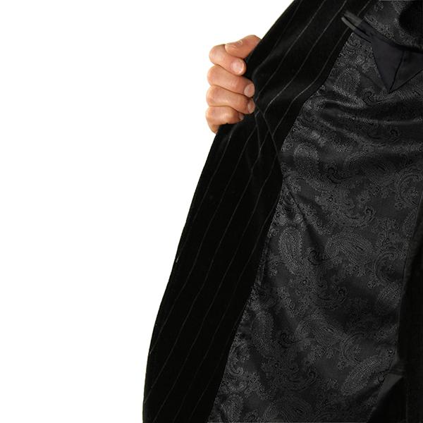 Jacquard tissu de doublure cachemire changeant – noir