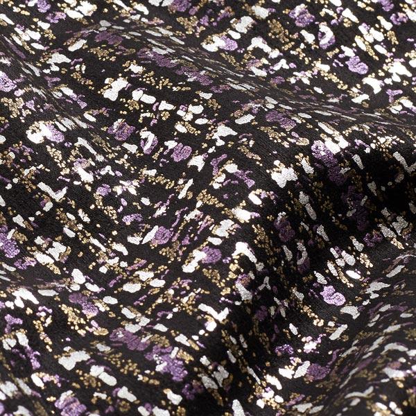 Scuba edler Foliendruck Karomuster – lila/silber