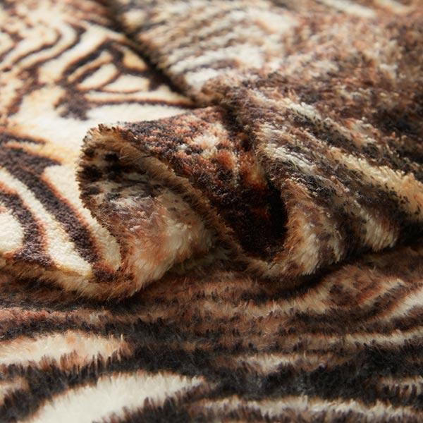 Polaire bien-être Fourrure léopard – marron