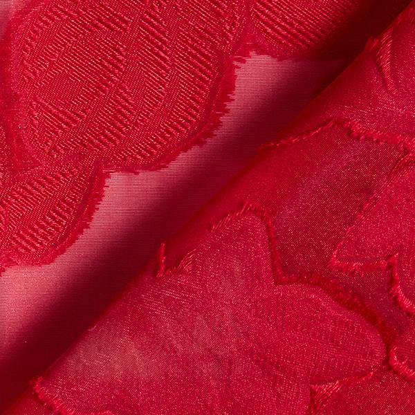 Organza jacquard Fleurs – rouge