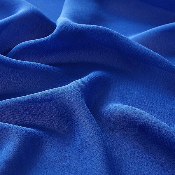 Polyester Chiffon Uni – bleu roi