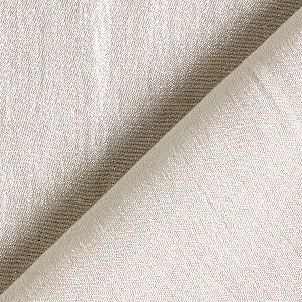 Tissu de chemisier Satin crêpe brillant – blanc