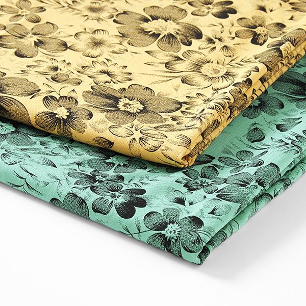 Tissu pour chemisier Mélange viscose Floraison splendide – vert menthe