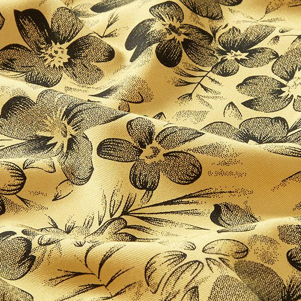 Tissu pour chemisier Mélange viscose Floraison splendide – jaune clair