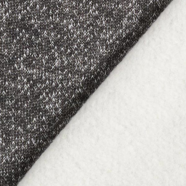 Tissu maille duveteux Chiné – anthracite