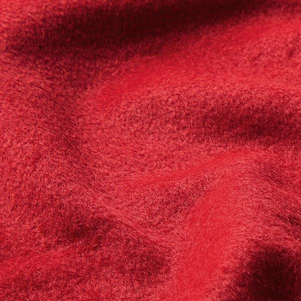 Tissu pour manteau Mélange laine vierge Uni – carmin