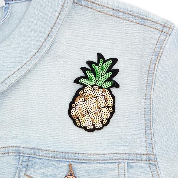 Patch Ananas (4,8 x 7,9 cm) – doré