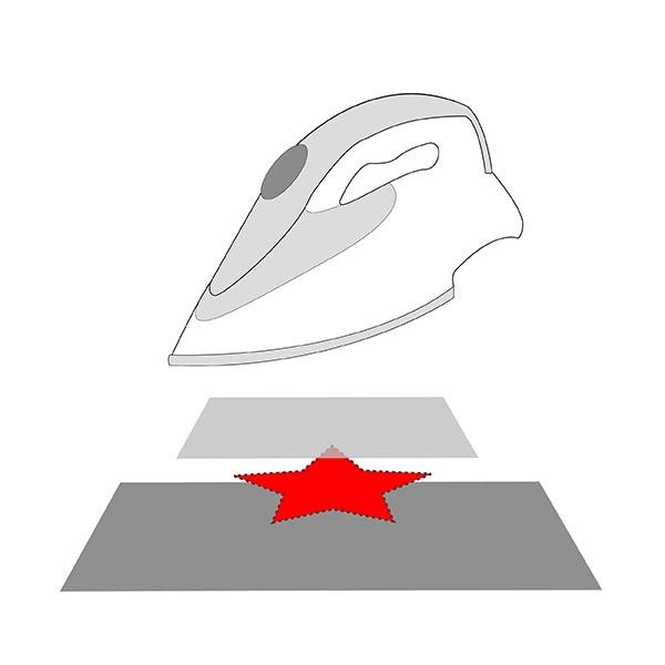 Patch Fleur (10,2 x 21,0 cm) – rouge