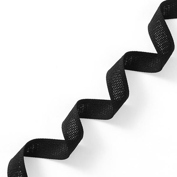 Ruban tricoté  Filet [23 mm] – noir