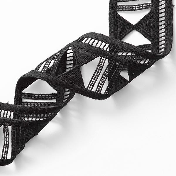 Ruban dentelle  Broderie à trous [55 mm] – noir