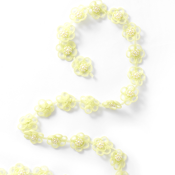 Ruban organza Fleurs [25 mm] – vert pastel