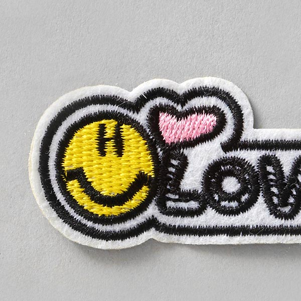 Application Love Smiley – écru