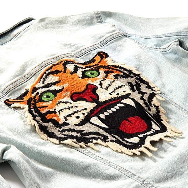 XXL Application Tête de tigre – gris